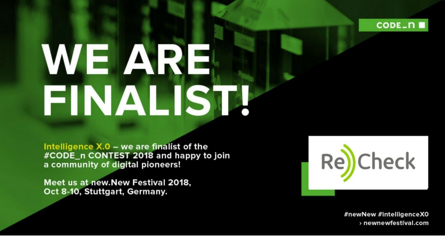 ReCheck is a Finalist at Code_n contest